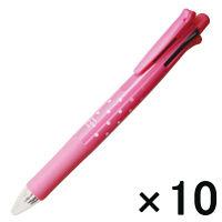 【アウトレット】ゼブラ クリップオンマルチ ボールペン4色+シャープペン ドットピンク 1箱(10本入) B-B4SA1-DTP
