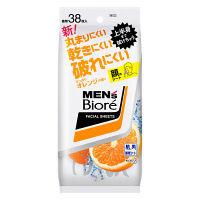 メンズビオレ 洗顔シート さっぱりオレンジの香り 卓上用 38枚 花王