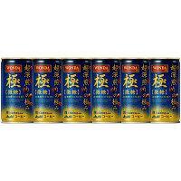 アサヒ飲料 WONDA(ワンダ) 極 超深煎りの極み 微糖 185g 1セット(6缶)