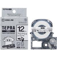 キングジム テプラ PROテープ アイロン 12mm 白ラベル(黒文字) 1個 SF12Kの画像