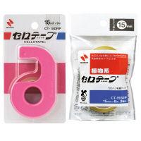 セロテープカッター 小巻テープ2巻付 桃