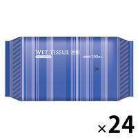 ウェットティッシュ BOXタイプ アルコール除菌ウェット 詰替用 1箱(100枚×24個入) 伊藤忠リーテイルリンク
