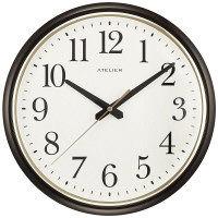 リズム時計 クオーツ掛時計 アトリエZ01 茶 1個 4KGA01AZ06