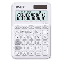カシオ計算機 カシオ カラフル電卓 ホワイト MW-C20C-WE-N (白)1個