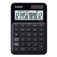 カシオ計算機 カシオ カラフル電卓 ブラック MW-C20C-BK-N (黒) 1個