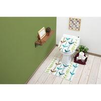 トイレマット+フタカバー2点セット 洗浄暖房型 アイビー 1セット ヨコズナクリエーション