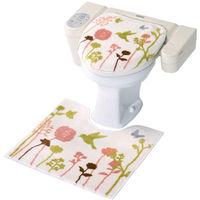 トイレマット+フタカバー2点セット 洗浄暖房型 バード 1セット ヨコズナクリエーション