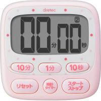 <LOHACO> 時計付大画面タイマー ピンク T-566PK 1個 ドリテック画像