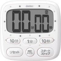 <LOHACO> 時計付大画面タイマー ホワイト T-566WT 1個 ドリテック画像