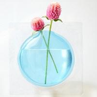 【アウトレット】+d(プラスディー) カキ ブルー フラワーベース 一輪挿し アッシュコンセプト KONCENT(コンセント)