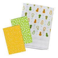 日本製 ガーゼバスタオル手拭い3点セット グリーン BG200106 1セット(3点) 林