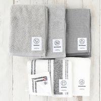 タオルセット LOHACO lifestyle towel グレー系セット キッチンタオル・フェイスタオル・ヘアタオル・トイレタオル・バスタオル 5枚 今治