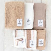 RoomClip商品情報 - タオルセット LOHACO lifestyle towel ベージュ系セット キッチンタオル・フェイスタオル・ヘアタオル・トイレタオル・バスタオル 5枚 今治