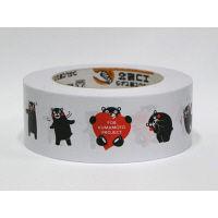 積水マテリアルソリューションズ くまモン柄 梱包用クラフトテープ No.XY1660 幅45mm×長さ50m巻 1巻