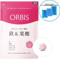 <LOHACO> ORBIS(オルビス) 鉄&葉酸(ストロベリー風味) 徳用 75日〜150日分 + オルビスユーホワイトサンプル3点セット