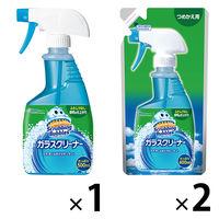 ガラスクリーナー 液体 本体+詰替2個