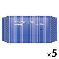 ウェットティッシュ BOXタイプ アルコール除菌ウェット 詰替用 1セット(100枚入×5個) 伊藤忠リーテイルリンク