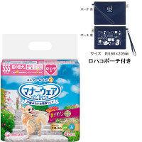 【ロハコポーチ付き】マナーウェア 女の子用 SSSサイズ チェック柄 42枚 + ロハコオリジナルポーチ