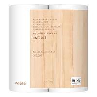 キッチンペーパー ネピア asmori(アスモリ) キッチンタオル ロールタイプ 100カット 1セット(3パック) 王子ネピア
