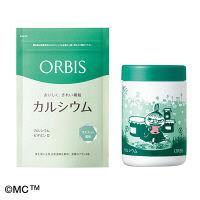 【新スキンケアサンプル付】ORBIS(オルビス) カルシウム(マスカット風味) レギュラー&専用ムーミンボトルセット(リトルミイ)