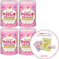 【0ヵ月から】アイクレオのバランスミルク 800g 1セット(4缶) + ベビーダイアリー&大量調乳スプーン特別セット アイクレオ
