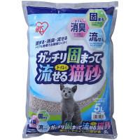 アイリスオーヤマ ガッチリ固まってトイレに流せる猫砂 5L 1袋