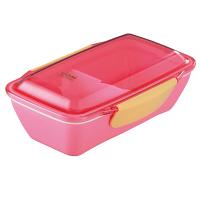 UGM レディース 1段 弁当箱 ドーム型 500ml ピンク イエロースタジオ