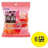 ぷるんと蒟蒻ゼリー ピーチ味 6袋