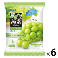 ぷるんと蒟蒻ゼリー パウチタイプ マスカット味 6個入×6袋 オリヒロ 栄養補助ゼリー