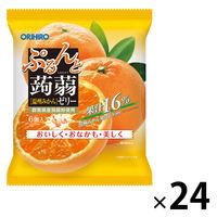 ぷるんと蒟蒻ゼリーパウチ 温州みかん 1セット(24袋) オリヒロプランデュ 栄養補助ゼリー