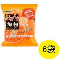 ぷるんと蒟蒻ゼリーパウチ 温州みかん 1セット(6袋) オリヒロプランデュ 栄養補助ゼリー