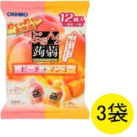 ぷるんと蒟蒻ゼリー ピーチ+マンゴー3袋