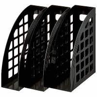ハピラ ファイルボックス 3P 黒 FBXBK 1セット(5組:1組×5)