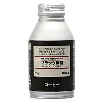 缶コーヒー 無印良品 有機アラビカ豆100%使用 BLACK(ブラック) 無糖 ボトル缶 270g 1本 15913510 良品計画
