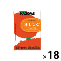 カゴメ 果汁100%オレンジジュース(こども支援パッケージ) 100ml 1箱(18本入)