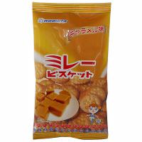 野村煎豆 ミレービスケット キャラメル味 110g 1セット(3袋入)