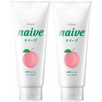 ナイーブ 洗顔フォーム 桃の葉エキス配合 130g 1セット(2個) クラシエホームプロダクツ