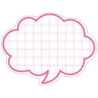 タカ印 抜型カード 吹出し 中 ピンク 16-4155 1箱(50枚入×5冊) (取寄品)