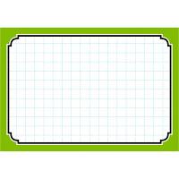 タカ印 カード 中 グリーン枠 16-4373 1箱(50枚入×5冊) (取寄品)