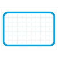 タカ印 カード 中 ブルー枠 16-4376 1箱(50枚入×5冊) (取寄品)