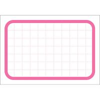 タカ印 カード 中 ピンク枠 16-4377 1箱(50枚入×5冊) (取寄品)