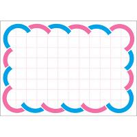 タカ印 カード 中 二色波枠 16-4855 1箱(50枚入×5冊) (取寄品)