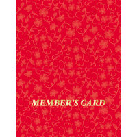 ササガワ タカ印 メンバーズカード レリーフ赤 二つ折 16-4913 1箱(50枚入×5冊)(取寄品)