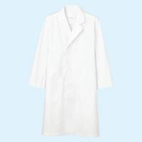 メンズ診察衣(ドクターコート) シングル A71-801 ホワイト LL