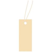 タグ 値札 19-854 スーパー提札 小 糸付き ベージュ