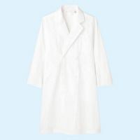 メンズ診察衣(ドクターコート) ダブル A71-811 ホワイト L