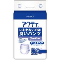アクティ 大人用紙おむつ におわないのは良いパンツ スーパー L 1箱(18枚X4パック入) 日本製紙クレシア (取寄品)
