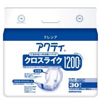 アクティ クロスライク1200 1箱(30枚×4パック入) 日本製紙クレシア (取寄品)