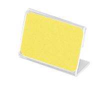 アクリル製 カード立 片面用(L型) 34-3011 1箱(10個入×2袋) (取寄品) ササガワ