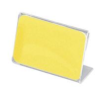 アクリル製 カード立 片面用(L型) 34-3012 1箱(10個入×2袋) (取寄品) ササガワ